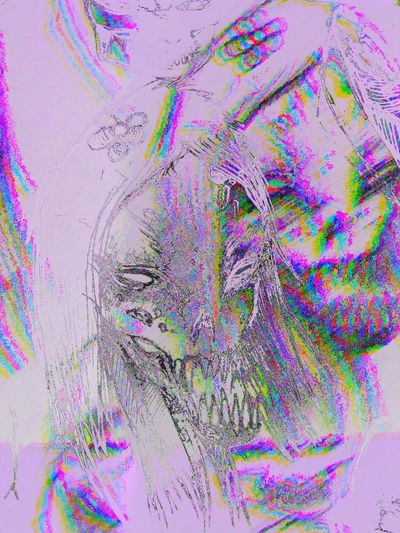 🖊sketch Drawing - Art Product Sketchbook Sketch Drawing Dead Nothuman Multi Colored Abstract Human Body Part Studio Shot Paint Pattern Purple Splattered Pink Color People Motion Water Indoors  Close-up Backgrounds Body Part Healthcare And Medicine Digital Composite Chaos Human Face