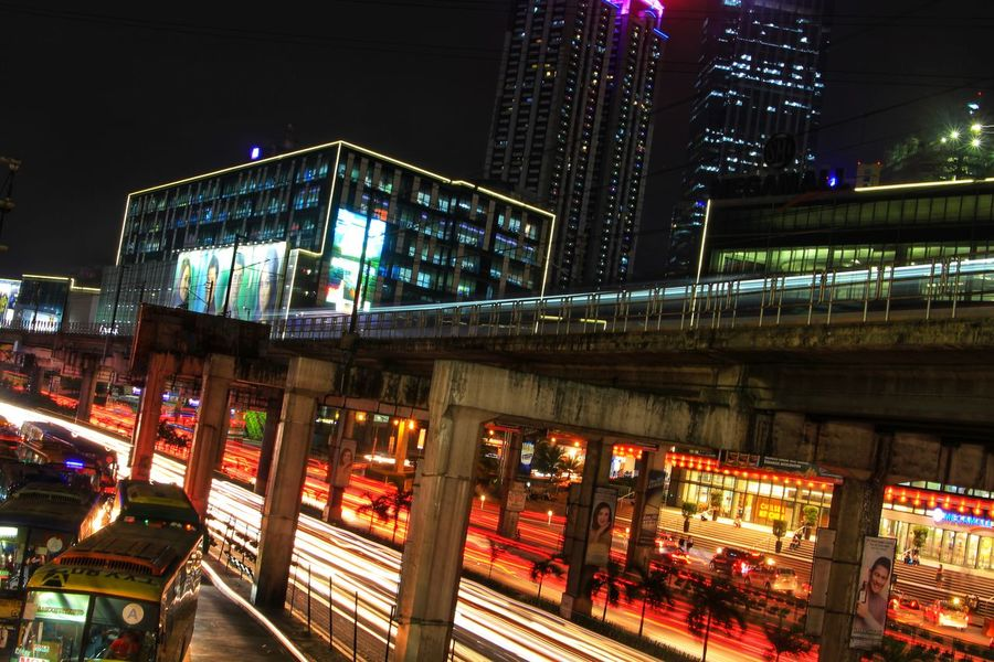 EyeEm Best Shots EyeEm Gallery EyeEmBestPics EyeEm Street Motion Light Trail Night Illuminated Bridge - Man Made Structure City Built Structure Outdoors No People Cityscape