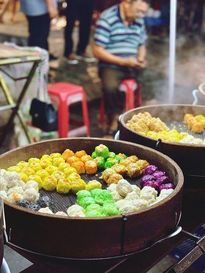 Dumplings for sale in market