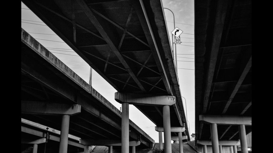 Low Angel View Of Overpass Bridge