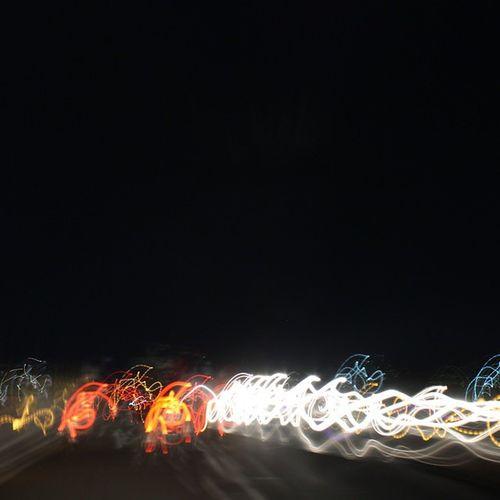 Jogja street light trails Jogja Lighttrails