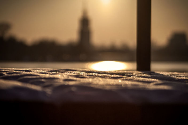 #Potsdam Havel Snow Winter Sunset Afternoon Chill Ice Park Babelsberg Cold Church Footbridge