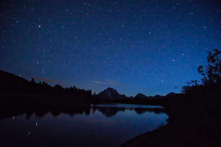 Scenic View Of Lake By Mountains At Grand Teton National Park