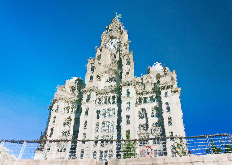 Liver Building reflection Pier Head Liverpool Reflection Royal Liver B Blue Sky No People Reflections In The Water