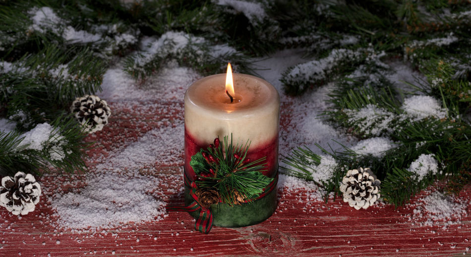 Christmas candle Branch Burning Candle Celebration Christmas Christmas Decoration Christmas Tree Close-up Day Flame Heat - Temperature Nature No People Outdoors Pine Cone Tree