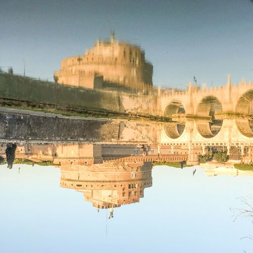 Quid Est Veritas Ancient Civilization Architecture Building Exterior Built Structure Castle Fake History IPhoneography Mirror Mirroring Reflection Riflessi Riflessi Sull'acqua Rom Rome Sant'angelo The Past Travel Destinations Truth Moving Around Rome