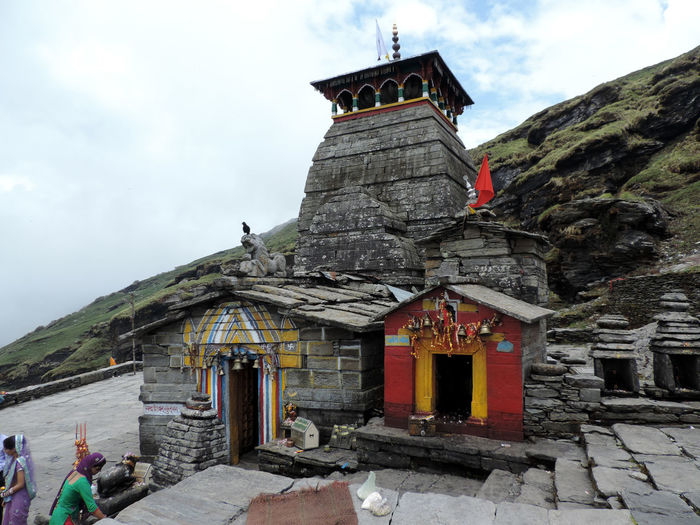 Architecture Travel Destinations Travel Building Exterior Cloud - Sky Place Of Worship Day Tunganath Tunganath Temple Highest Shiva Temple Of The World uttarakhand India Travel Mountains Himalayas