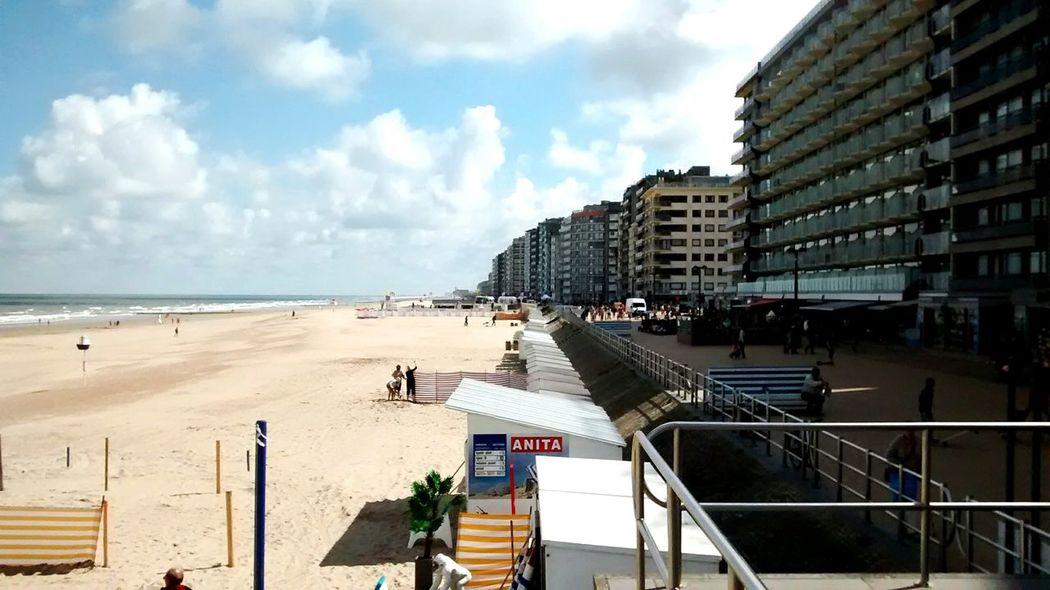 Belgien, Middelkerke, Strandpromenade Nordsee Meer Belgien Westende