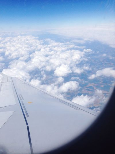 Fly Flying In The Sky Airplane Clouds And Sky Flying High Beautiful Landscape Airfrance Above The Clouds ✈️?