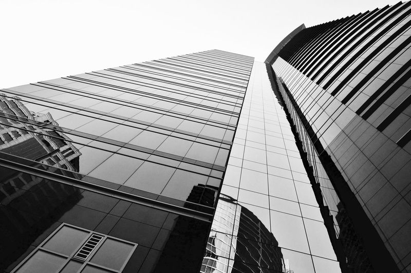 Reflection on Colony Square Texture Sunlight And Shadow Perspective Black And White Built Structure Architecture Building Exterior Low Angle View City Office Building Exterior Building Built Structure Architecture Building Exterior Low Angle View City Office Building Exterior Building