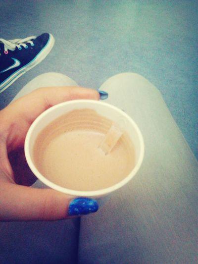 Morning Hot Chocolate Galaxy Nails