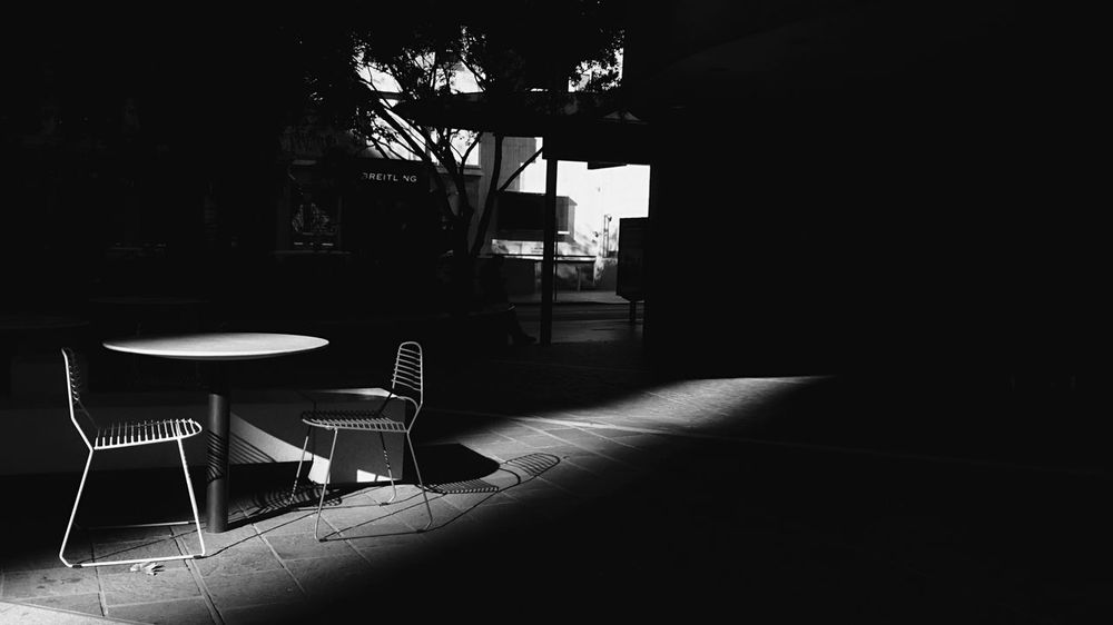 Table For Two | Open Edit | Light And Shadow | The Street Photographer - 2015 EyeEm Awards