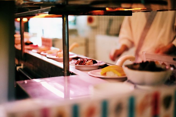 Japan Sushi Tokyo Close-up Day Dessert Food Food And Drink Freshness Gourmet Human Body Part Human Hand Indoors  Indulgence One Person Plate Ready-to-eat Real People Selective Focus Serving Size SLICE Sweet Food Temptation Unhealthy Eating