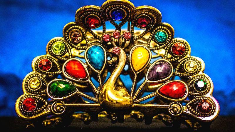 Macro Beauty Art And Craft Jewellery Colourful Gold Diamonds Luxurious Saphire Topaz Ruby ArtWork