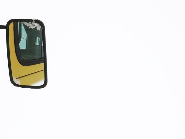Creative Space Copy Space White Background Transportation Mode Of Transportation Car Mirror Car Mirror View Mirror Mirror Reflection Mirror Picture Car Motor Vehicle Reflection Cut Out Work In Progress Street Work Excavator Buldozer Minimalism Minimalobsession Minimal Creative Light and Shadow CreativePhotographer