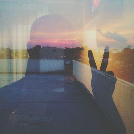 Sunset di bibir jendela. Vscocam Android Tester