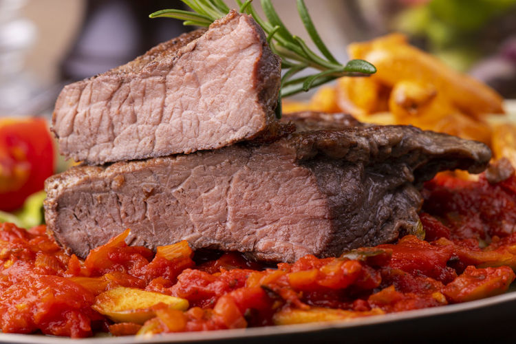 Plate Meat Beef