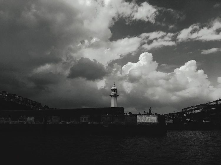 Blackandwhite Blackandwhite Photography Cloud Cloud - Sky Sky Architecture Built Structure Building Exterior Water Nature Waterfront Silhouette Outdoors Sea Transportation
