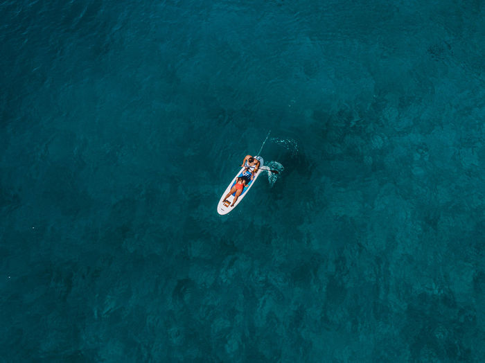 High Angle View Drone  Dronephotography Aerial View Aerial Aerial Photography Travel Destinations Travel Croatia Holiday Vacations Adventure EyeEm Best Shots The Week on EyeEm Sea Water Turquoise Colored Paddleboarding Leisure Activity Moments Of Happiness 17.62°