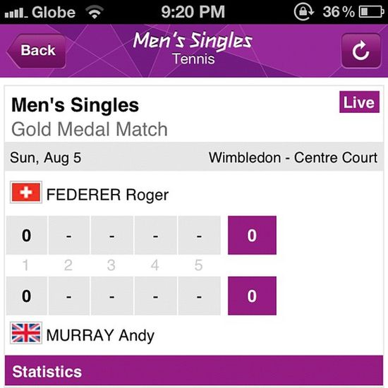 Watching Tennis Gold Medal Match: Federer v Murray — Tennis 2012olympics gold goforgold olympics londonolympics sport event lawntennis atp instasport instagramers webstagram instadaily igers igdaily