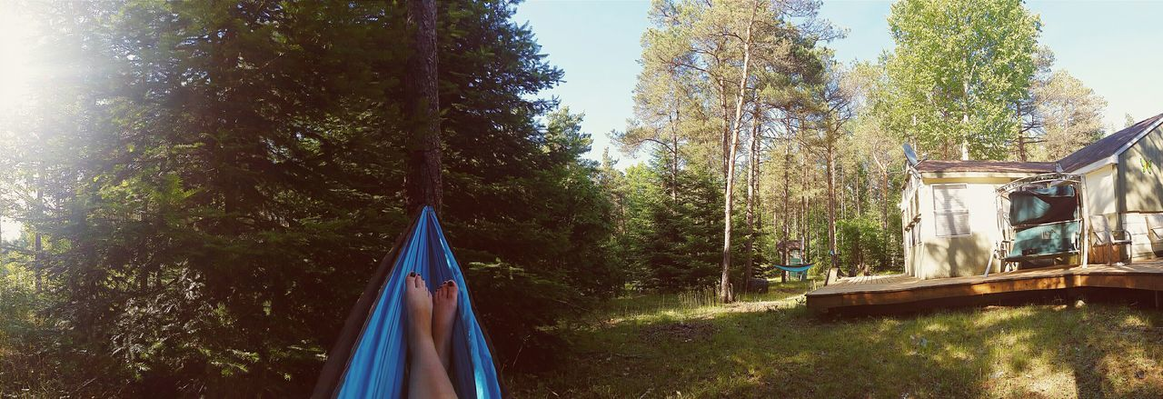 Hammock life is the best life Hanging Out Hammock Relaxing Enjoying Life Panorama Holiday POV The Adventure Handbook Love This View Panoramic Photography Barefoot