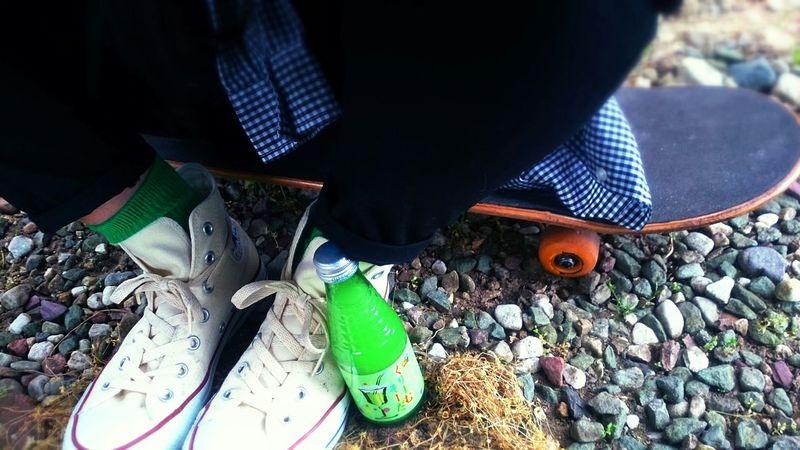 Skeatboard CreamSoda Melon Soda Sneaker Converse Allstar Green Greensocks