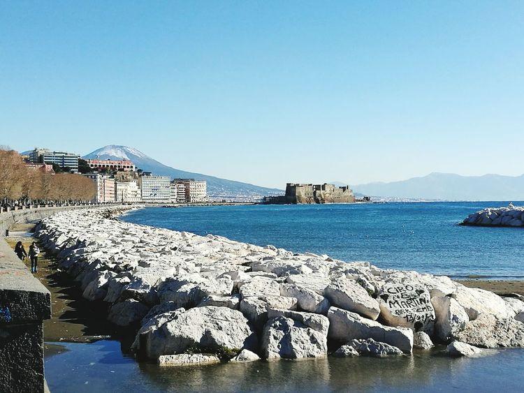Lungomare di Napoli, Vesuvio con neve Adapted To The City Napoli Naples, Italy Napoli ❤