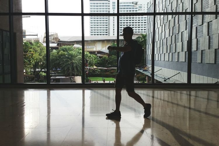 """""""Nobody got time for that"""" Window One Man Only Reflection Indoors  One Person Full Length Men Day Sky City Time EyeEm EyeEm Gallery EyeemPhilippines Eyeem Philippines Greenbelt5 Greenbelt Philippines Mall Windows Building"""