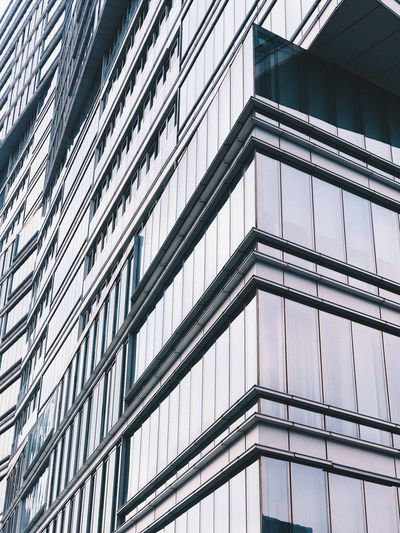 Built Structure Architecture Low Angle View Building Exterior Building No People Pattern Outdoors City Modern Shape Glass - Material Window