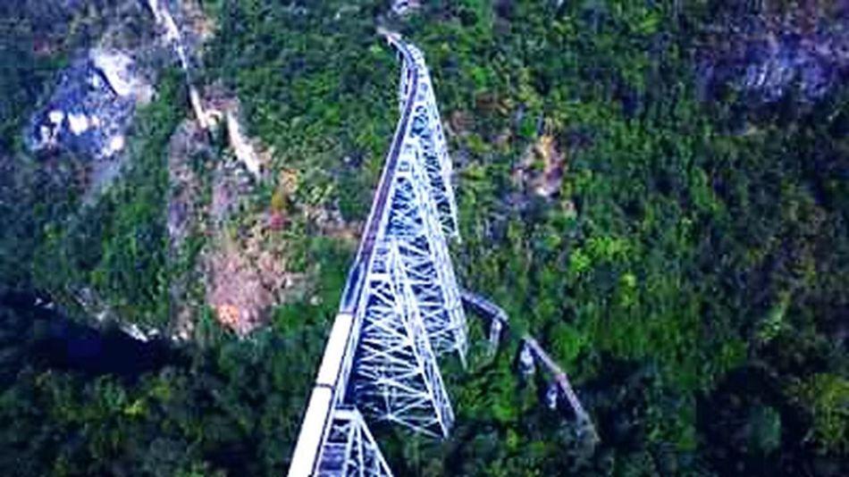 Amazing bridge in Myanmar. Myamar Goat Htaik Bridge