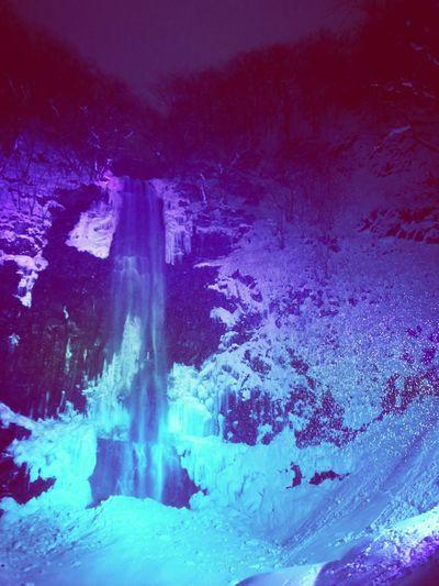 Lighting water fall Waterfall