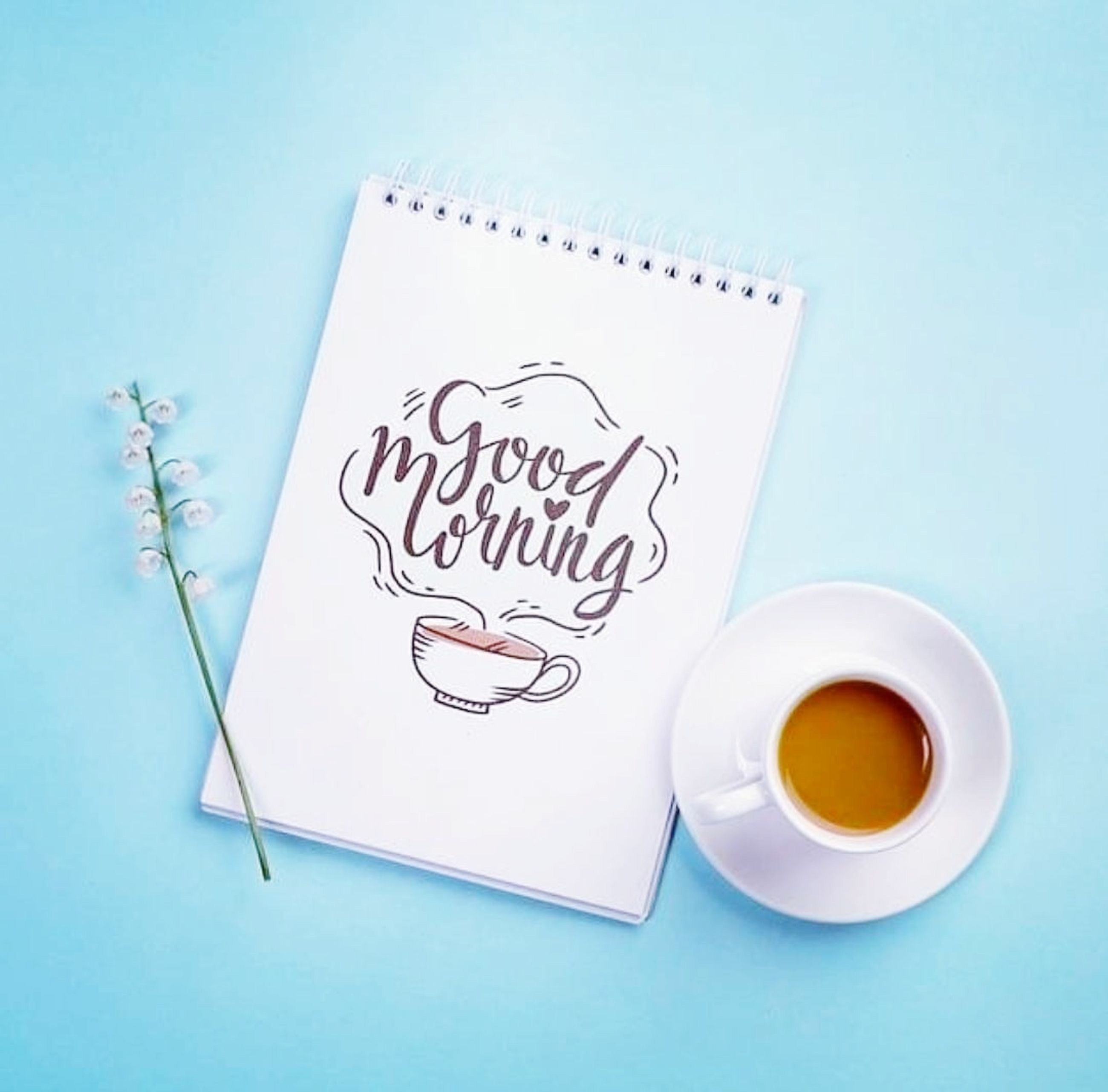 food and drink, blue, mug, cup, studio shot, font, blue background, indoors, coffee cup, drink, colored background, no people, coffee, text, paper, copy space, food, creativity, drawing, high angle view