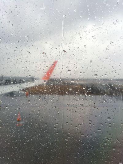 Rain. Rain Airplane Window Japan From An Airplane Window