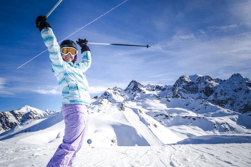 Portrait Of Woman In Ski Gear
