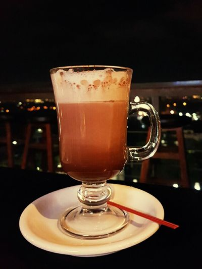 Coffee on a chilly night, overlooking the city lights. First Eyeem Photo Coffee Mug Cold Night Hot Coffee Cafe Lupe Overlooking The City Cappucino Chilly Night Coffee