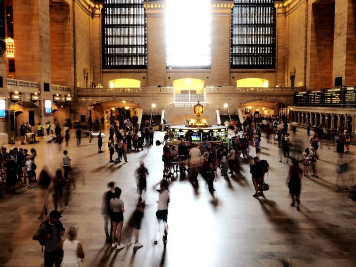 it's time Grand Central Station New York City Architecture Blurred Motion Building Exterior Built Structure City City Life Crowd Group Of People Illuminated Large Group Of People Lifestyles Men Motion Movement Photography Outdoors Real People Transportation Travel Travel Destinations Walking Women