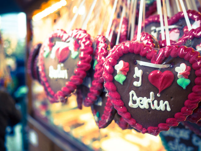 Celebration Red Heart Shape Holiday - Event Cultures Gingerbread Cookie Text Sweet Food No People Close-up Food Berlin Berliner Ansichten I Love My City