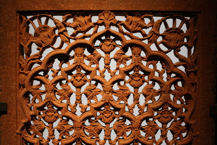 Ornament Arabesque Pattern Close-up Day Full Frame Indoors  No People Stone Carving Stone Screen