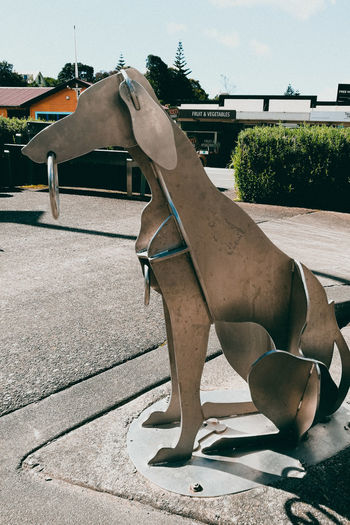 The steel dog / El perro de acero. Trip Reflection Art Memories Sculpture Recuerdos Arte Escultura Perro Acero Estatua Animal Steel Dog Statue Day Outdoors Animal Themes Sky Mammal