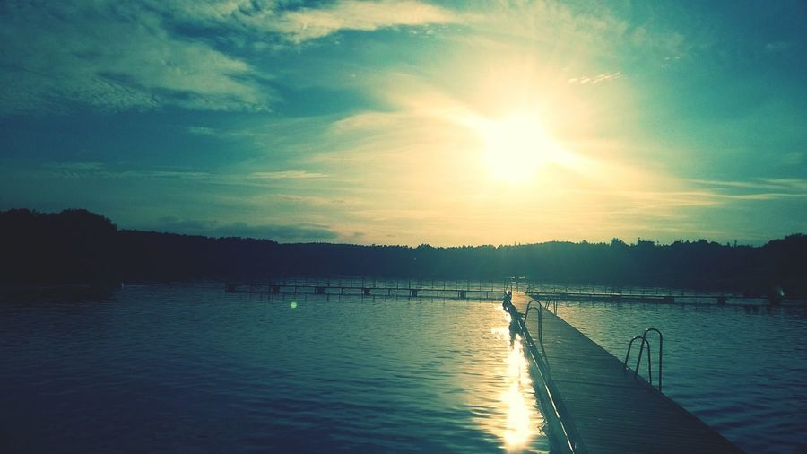 Lake, bridge