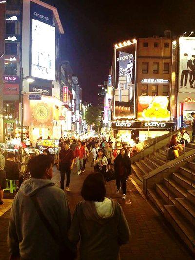 Myeongdong Korea MyeongDong Shopping District Malls Vacation Streetphotography Street