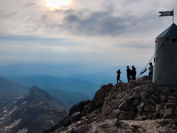 At the top of the highest mountain in Slovenia, Mount Triglav 2864 meters Highest Mountain In Slovenia Aljažev Stolp Hikingadventures Climbing A Mountain Great Outdoors - 2018 Eyeem Awards Hiking Mountains Hikers Paradise Slovenia Trekking Hikerslife The Alps Triglav National Park Triglav Mountain Range Morning In Mountains Mountain Peak Mountain Real People Cloud - Sky Sky Beauty In Nature Lifestyles Nature Hiking Group Of People Scenics - Nature Adventure Tranquility People Activity Summer Sports