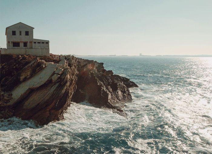 Island Coast Coastline Sea Ocean Ocean View Sky Blue Sky House Portugal Peniche Peniche, Portugal
