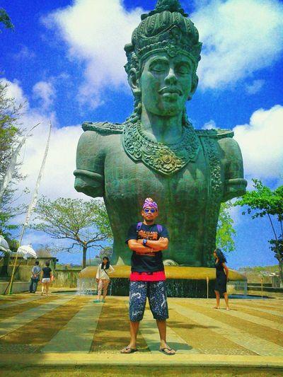 That's Me Hanging Out Garuda Wisnu Kencana Bali, Indonesia