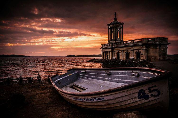 Normanton Church Rutland Water Sunset Sunsetporn Rutland Uk Anglianwater Boat Redskyatnight EyeEm Best Shots