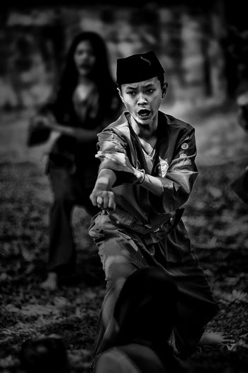 Pencak Silat, Indonesian tradisional martial arts BW_photography Indonesian Martial Arts Blackandwhite Indonesia Photography  Outdoors Pencak Silat People Self Defense Silat Young Adult