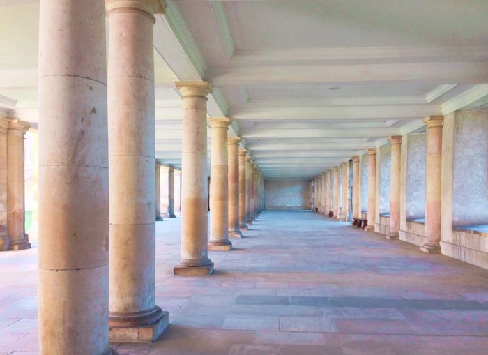Trinity College Cambridge University University Campus Education Dream Pastel Power Pastel Classic Column Sunlight Architectural Column Architecture Corridor In A Row The Way Forward Indoors  No People Pillar Built Structure Day Colour Your Horizn