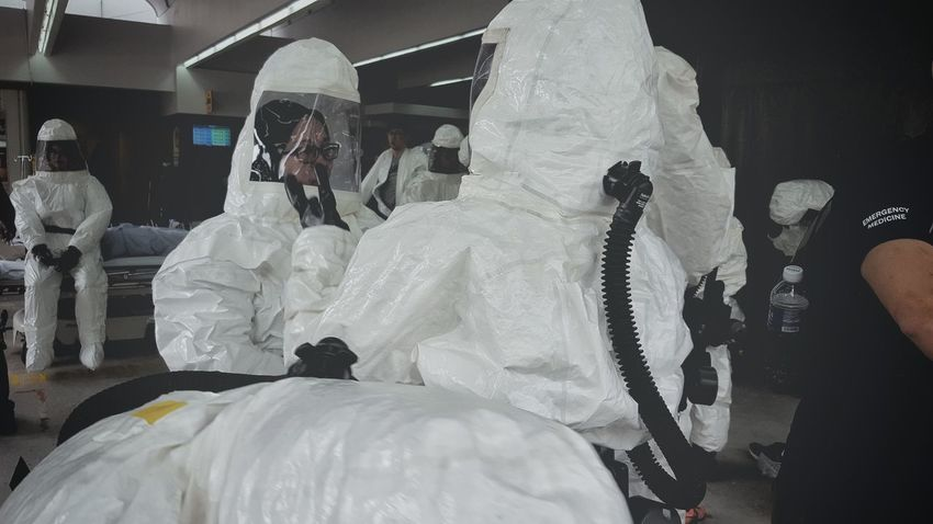 We come in peace. Adult People Adults Only Contamination Hazardous Suit Protective Suit Chemical Singapore Safety Hospital Decontamination