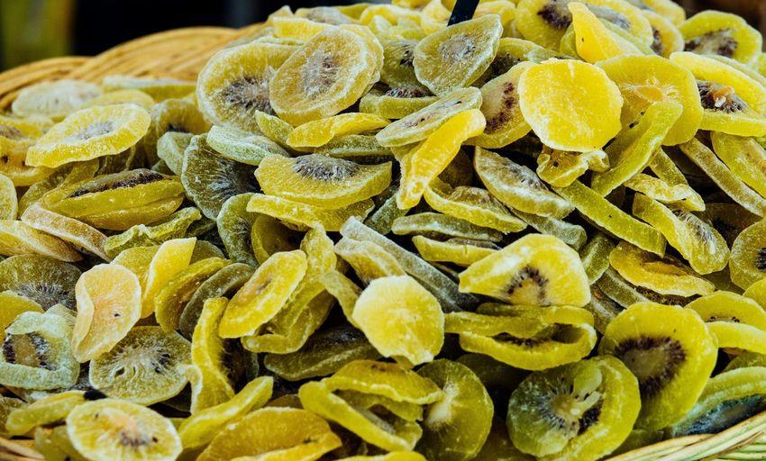 Close-up of dried kiwi