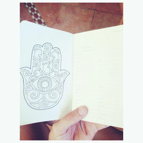 Hamsa Hand Drawring Newone